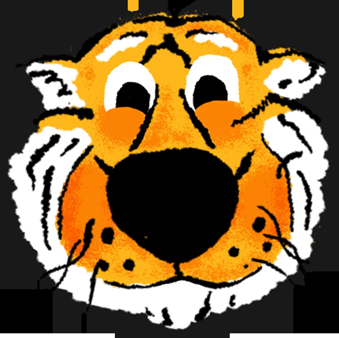 A hand drawn sticker of Truman Tiger emoji
